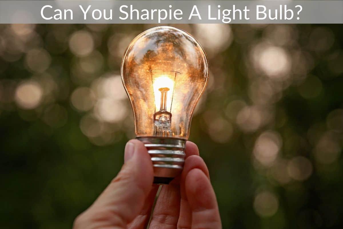 Can You Sharpie A Light Bulb?